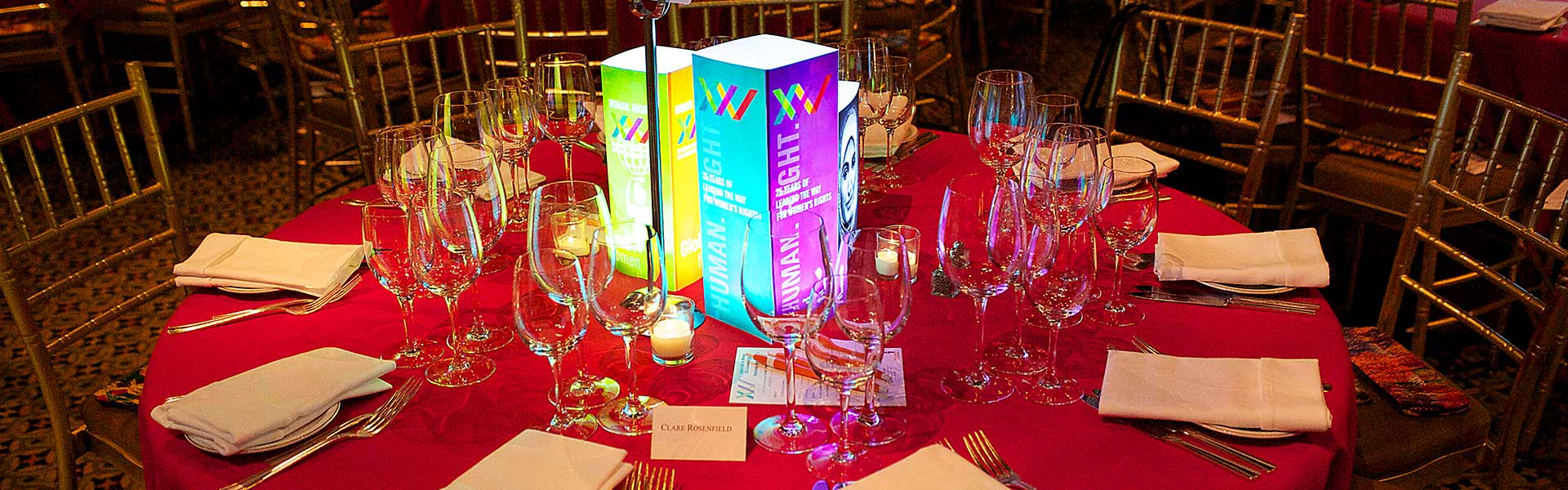 Illuminated Corporate Branded Centerpieces