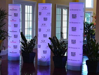 Branded Light Up Column for Special Event